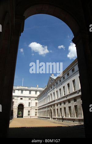 King Charles Court in Trinity College of Music, Old Royal Naval College in Greenwich, London UK - Stock Photo