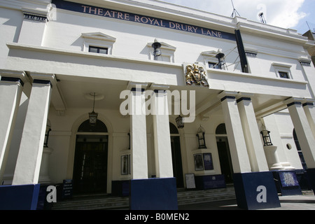 City of London, England. Entrance to the West End Theatre Royal at Covent Garden's Drury Lane, showing The Lord - Stock Photo