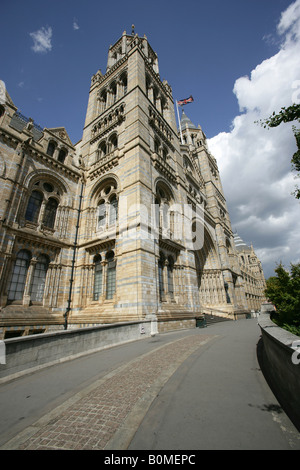 City of London, England. Entrance to the popular tourist and educational attraction Natural History Museum on Exhibition - Stock Photo
