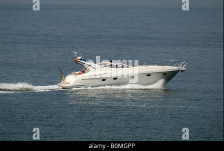 Luxury motorboat in the Sea - Stock Photo