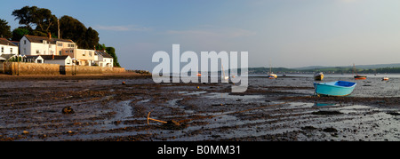 Exe Estuary at low tide, Lympstone, Devon, UK - Stock Photo