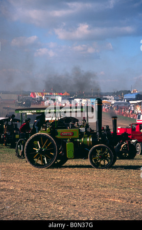 1920 4 NHP Colonial Tractor by Aveling and Porter Clementine in the main ring at The Great Dorset Steam Fair - Stock Photo