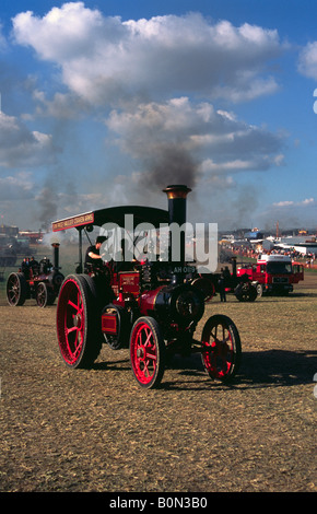 Burrell Steam Tractor Harry in the main ring at the Great Dorset Steam Fair - Stock Photo