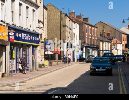 Town Centre at Market Rasen, Lincolnshire, UK - Stock Photo