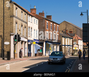 Town Centre in Market Rasen, Lincolnshire UK - Stock Photo