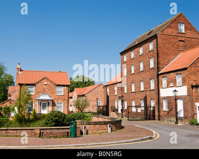 Victorian Church Mill converted for housing and new development at Market Rasen, Lincolnshire, UK - Stock Photo