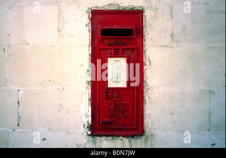 April 7, 2004 - British colonial heritage in the Maltese capital of Valletta. - Stock Photo