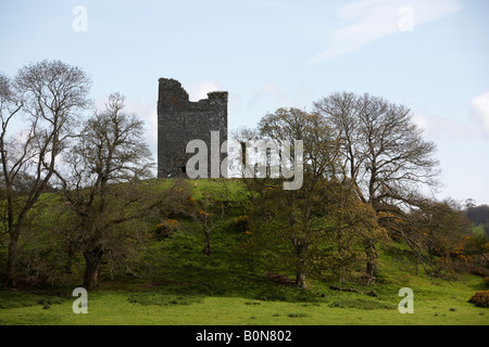Audleys castle tower house built on a high mound overlooking strangford lough county down northern ireland - Stock Photo