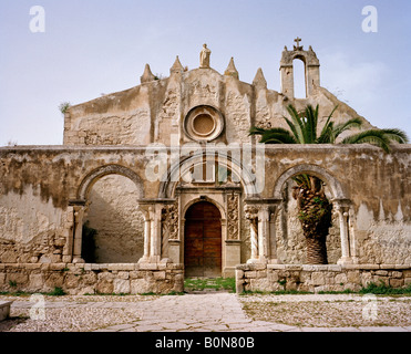 Chiesa San Giovanni and Catacombs of St John a 12th century Norman church. Syracuse or siracusa Sicily Italy EU - Stock Photo