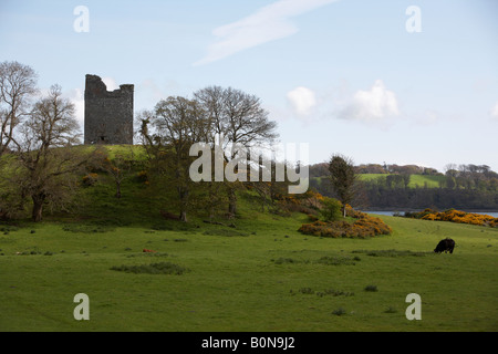 Audleys castle tower house westeros in game of thrones strangford lough county down northern ireland - Stock Photo