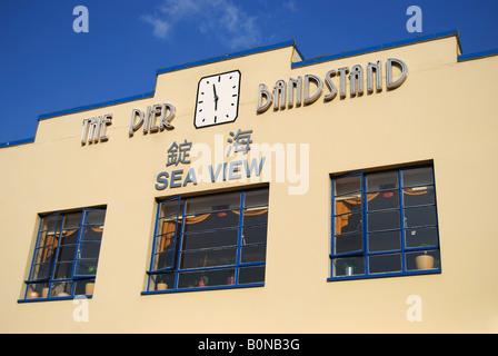 The Pier Bandstand, The Esplanade, Weymouth, Dorset, England, United Kingdom - Stock Photo