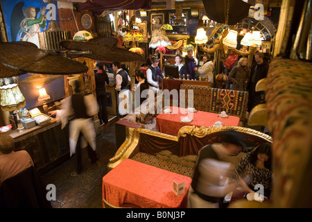 Interior of Sarastro restaurant. Drury Lane, Covent Garden. London. UK. - Stock Photo