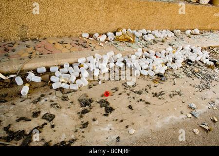 jar,periphery, leaved factory, el saler, - Stock Photo