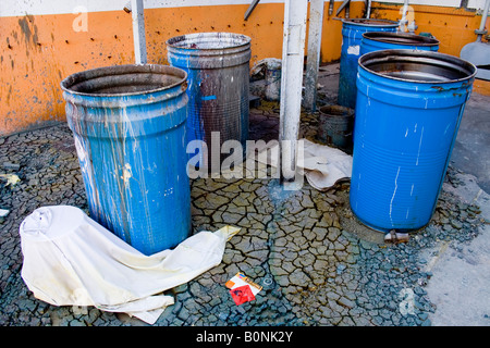 drum ,periphery, leaved factory, el saler, - Stock Photo