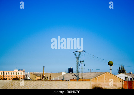 antenna ,periphery, leaved factory, el saler, - Stock Photo