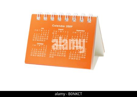 2009 desktop Calendar from July to December - Stock Photo
