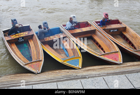 Water Taxis Heading To Kampung Ayer, Brunei - Stock Photo
