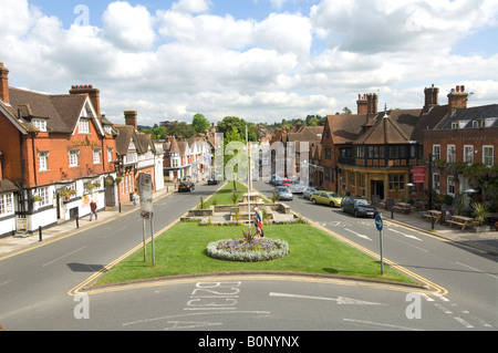Haslemere High Street looking North, Surrey, UK - Stock Photo