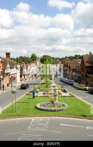 Haslemere High Street looking North Surrey UK - Stock Photo