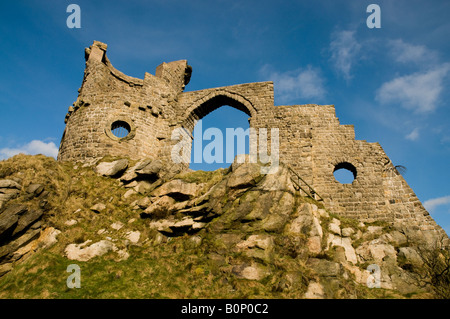 A folly of a ruined castle built in 1754 as a summerhouse and site of the birthplace of Primitive Methodism - Stock Photo