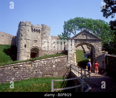 Carisbrooke Castle near Newport on the Isle of Wight - Stock Photo