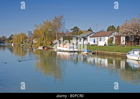 Surfleet Resevoir in the Lincolnshire Fens - Stock Photo