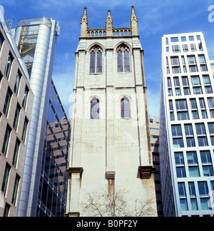Modern Architecture London England tower of st alban, wood street, london, england stock photo