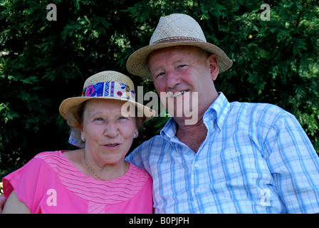A old happy couple. - Stock Photo