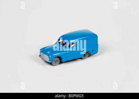 a blue Hornby Dublo Commer van - Stock Photo