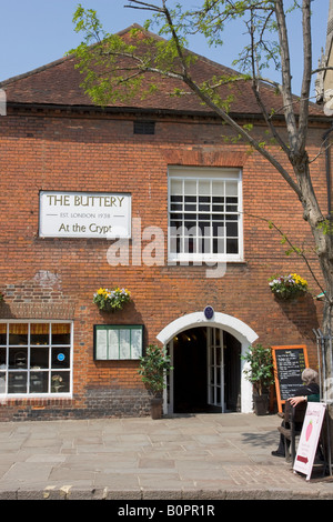 The Buttery Cafe Chichester Sussex England - Stock Photo