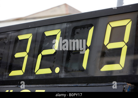 timing display for athletic race set at 32 19 minutes - Stock Photo