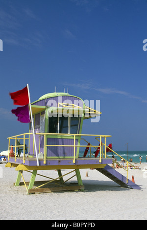 Life Guard South Beach Miami Beach Miami Florida USA - Stock Photo