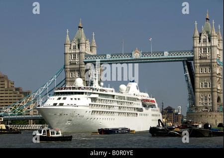 Silver Wind Cruise Ship Liner On Aegean Sea By Caldera Rim