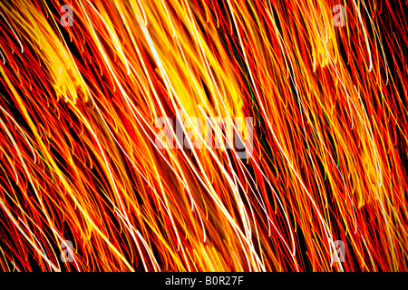 Lights in motion. - Stock Photo