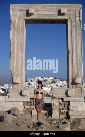 Apollontempel Naxos Kykladen Griechenland - Stock Photo