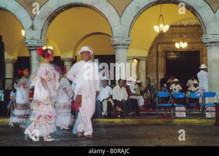Vacqueria dancers in  Merida, Yucatan, Mexico - Stock Photo