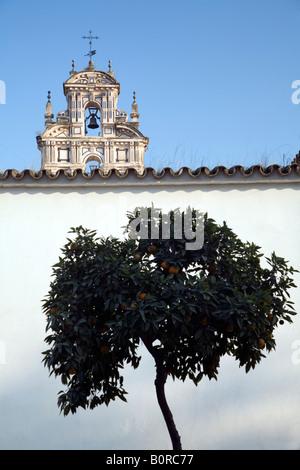 Belfry of San Clemente monastery, Seville, Spain - Stock Photo