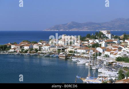 Harbour Pythagorion, Samos Island, Greece - Stock Photo