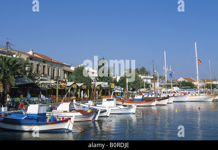 Harbour of Pythagorion, Samos Island, Greece - Stock Photo