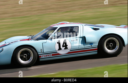 1965 Ford GT40 at Goodwood Revival meeting, Sussex, UK. - Stock Photo