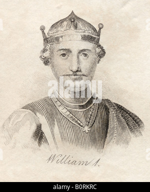 William I The Conqueror 1027 1087 First Norman King of England - Stock Photo