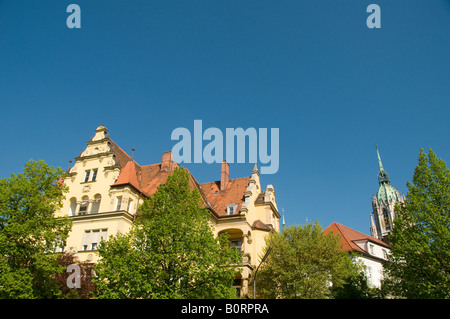 View of a residential neighborhood in the Ludwigsvorstadt Isarvorstadt quarter in the city of Munich capital of - Stock Photo