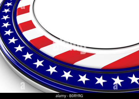US elections button with white space for custom message - Stock Photo