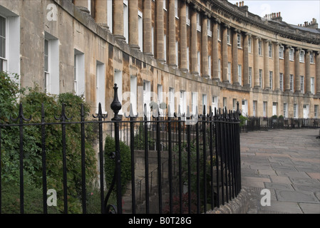Georgian Architecture of The Royal Crescent, City of Bath, Somerset, England, UK. A UNESCO World Heritage Site.