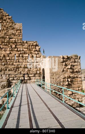 Middle East Hashemite Kingdom of Jordan Karak Governorate the city of Al Karak in centre Jordan The Karak Crusader - Stock Photo