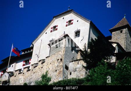 The Fuerstenhaus, Castle in Vaduz, Liechtenstein - Stock Photo