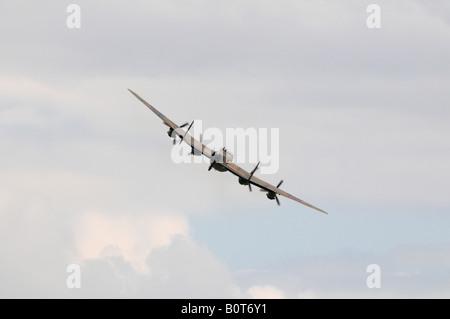 Battle of Britain Memorial Flight Lancaster Duxford Spring Air Show 2008 - Stock Photo