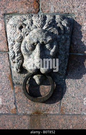 Mooring ring, St. Petersburg, Russia - Stock Photo