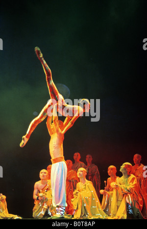 Peking a Shaolin monk performance in the Red Theatre - Stock Photo