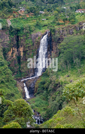 Devon Falls near Talawakele viewed from the road to Nuwara Eliya, Sri Lanka. - Stock Photo